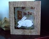 Recycled Pop Can Upcycled Bunny Rabbit Block
