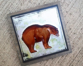 Upcycled Soda Pop Can Bear Art Tile