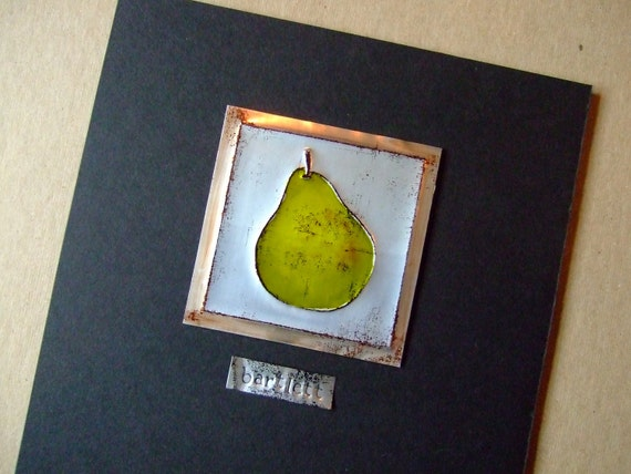 Recycled Pop Can Pear
