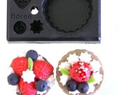 All in one Clay Mold - Make Miniature Strawberry Tart - The Inedible Food Art - Reusable - Miniature Doll House