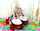 Retro Red White and Blue ROLLER DERBY SKATES // very fun and retro