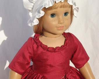 Colonial Gown/Dress  Made for  American Girl Dolls & similar 18 in. Dolls