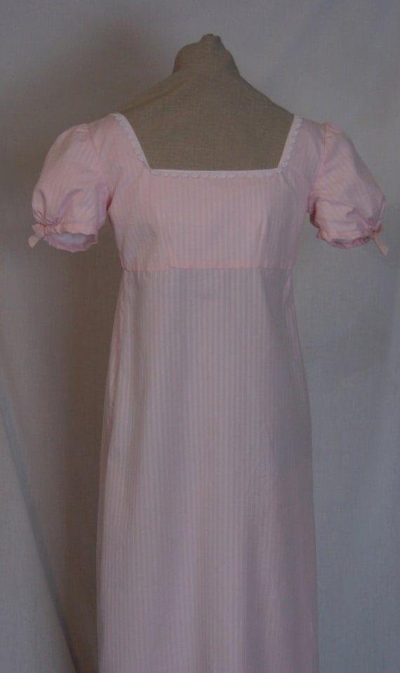 Ready to Ship Regency Era Dress  Emma's Pink Achery Dress look a like