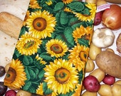 Baked Potato Bag Microwave Vegetable Steamer Pouch - Sunflowers theme