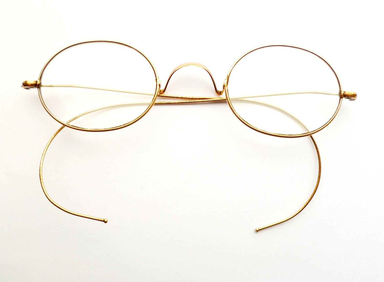 Vintage Eyeglass Frames Maine : Antique Riding Temple Spectacles Marked with