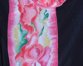 Hand Painted Silk Scarf Item # 141005A