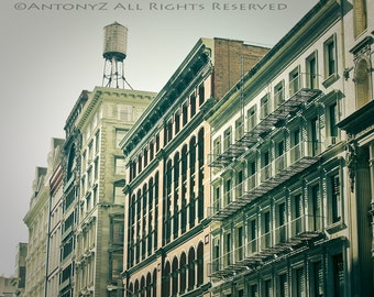 Vintage SOHO East Village Downtown Water Tower in New York City 8x10 Fine Art Print
