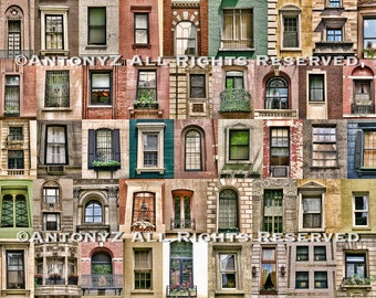 Collection of Windows in New York City 8 x 10 Fine Art Print