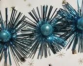 Bright Blue Sparkling Christmas Decorations