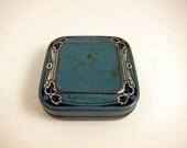 Sweet Blue Vintage Typewriter Ribbon Tin