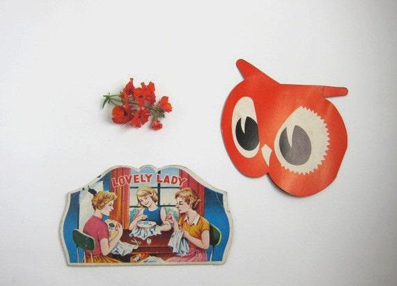 Two Vintage Promotional Needle Books