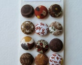 Brown Fabric Covered Buttons OR Brads