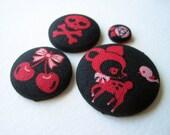 Goth Kawaii Button Fridge Magnet Set