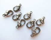 8 Large Lobster Clasp with Rhinestone