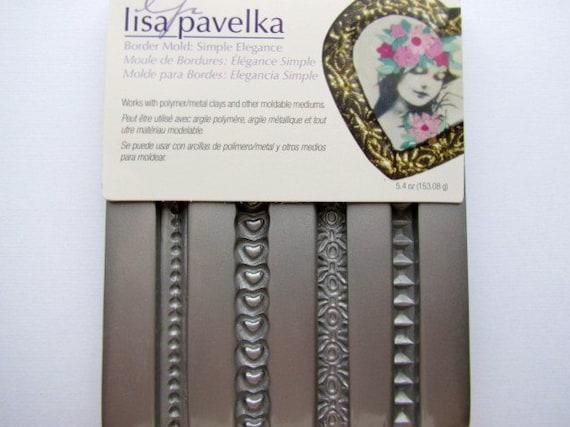 Polymer clay Simple Elegance Border Mold  Lisa Pavelka