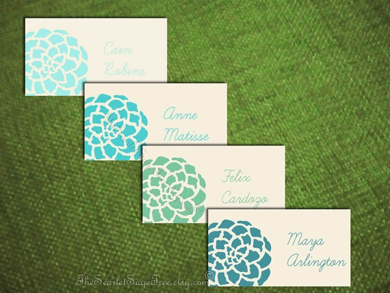 Boho Summer Place Card PEONY Floral Personalized Diy Wedding Decor Escort Thank You Favor Tag Template Pdf Signage Seating Sign Print 2016
