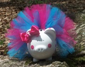 CUSTOM Tutu Piggy Bank - CUSTOM PIGGY - Large Size