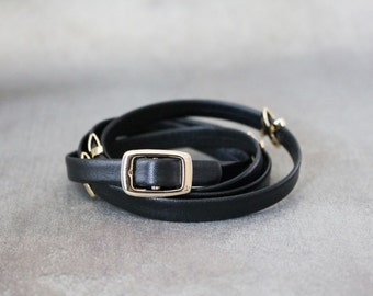 XXXXX Metal Ornament Soft Leather Bracelet(Black)