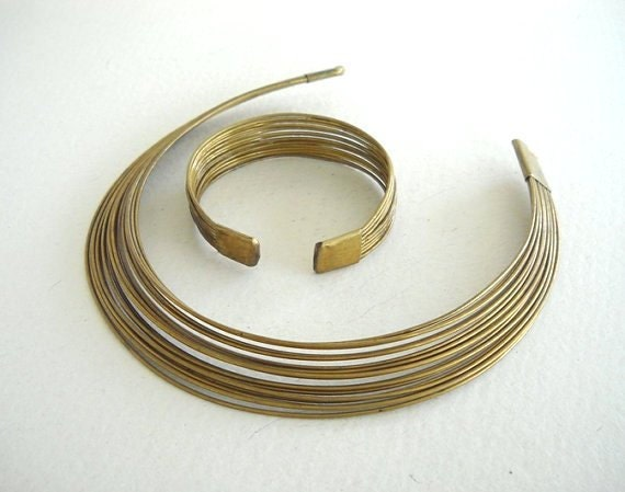 SALE- Vintage Royal Brass Neck-Wear and Bangle