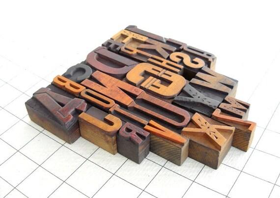 A to Z - Vintage Letterpress Wood Type Collection MV37
