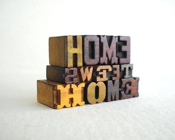 Home Sweet Home - 13 Vintage Letterpress Mini Letters Alphabets Collection - Mini & Micro Series - MV49