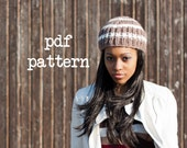 PDF Knitting Pattern - Simple Striped Knitted Hat PDF Pattern - Permission to Sell