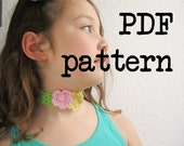 PDF Crochet Pattern Tutorial - Crochet Choker With Beaded Flowers Tutorial - permission to sell
