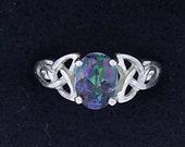 Sterling Silver Enhanced Trinity Ring