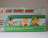 Travel Game Milton Bradley Family Road Trip Board Car Game Mid Century Modern Mad Men