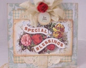 Shabby chic Special Blessings handmade card