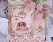 Shabby Chic Just For You Tea Cup card