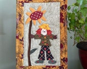 Wall Hanging -  Scarecrow Quilt with Stand
