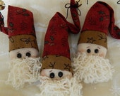 3 Santa Claus Ornaments