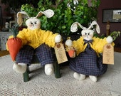 Married Easter Bunnies - Maxwell and Maxine Orignial Design