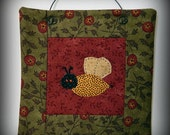 Bumblebee Mini Quilt - Original Design and Hand Made
