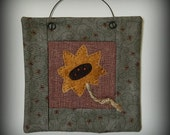 Sunflower Mini Quilt - Handmade Original Design