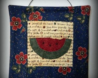 Watermelon Mini Quilt - Original Handmade Design