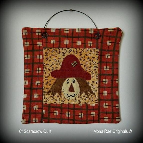 Scarecrow Mini Quilt - Handmade Original Design