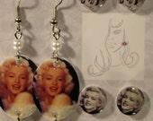 Marilyn Monroe Three Pack Earrings Gift set