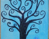 Tree At Twilight  Original ACEO