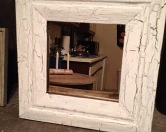 Rustic White Mirror