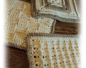 "PDF Crochet Pattern - Dishcloth Trio ""Celebrate the Square"""