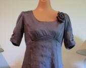 Beautiful Iridescent Silk Empire Waist Dress