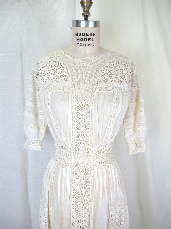 1900s Lingerie Dress Tea Dress Victorian Edwardian Fine