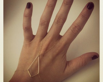 gold-filled diamond shape hand piece