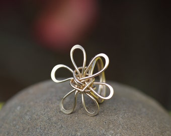 Hand Crafted Gold Plumeria Ring