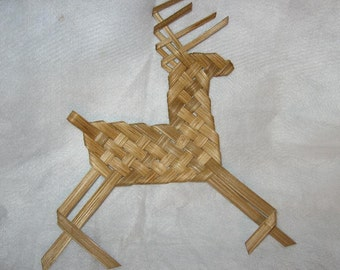 Woven Reindeer Decoration