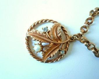 Coro Flower Charm Bracelet, Circa 1956