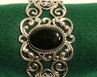 Sterling Silver Onyx Danecraft Bracelet