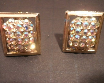 Vintage Bohemia Crystal  Clip On Earrings